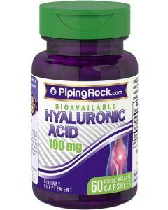 Piping Rock® Hyaluronic Acid 100mg 60 Capsules