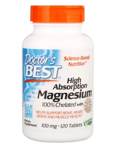 Doctor's Best Chelated Magnesium Glycinate (100mg)
