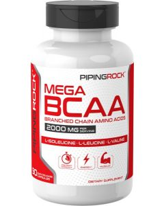 Mega BCAA (Branched Chain Amino Acids), 2000 mg (per serving)