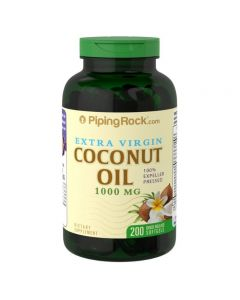 Piping Rock® Extra Virgin Organic Coconut Oil 500mg (200 Quick Release Softgels)