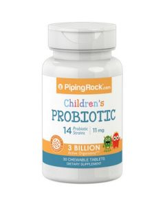 Piping Rock Kids Chewable Probiotics 30 Tablets
