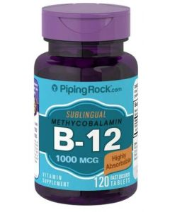 Piping Rock Vitamin B-12 Superior Methylcobalamin Form 1000mcg
