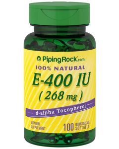 Piping Rock Natural Vitamin E 400 IU 100 softgels