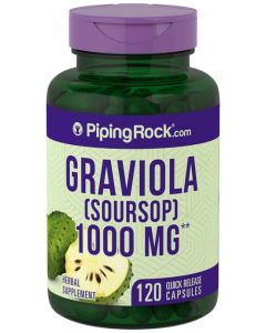 Piping Rock Graviola (Soursop) 1000mg 120 Capsules