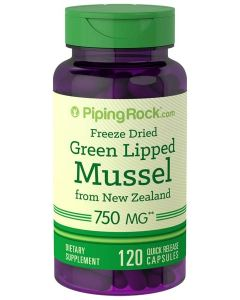 Piping Rock Green Lipped Mussel 120 Capsules 750mg