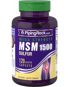 Piping Rock MSM Sulfur 1500mg 120 Veggie Tabs