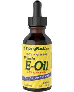 Piping Rock Vitamin E Oil 100% Natural 30ml Liquid Form