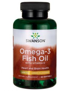 Lemon Flavoured Omega-3 Fish Oil With Vitamin D