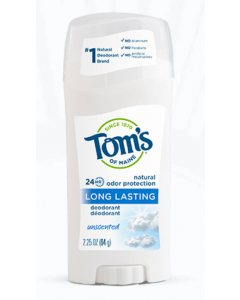 Tom's of Maine Long Lasting Natural Deodorant (Unscented, 64g)