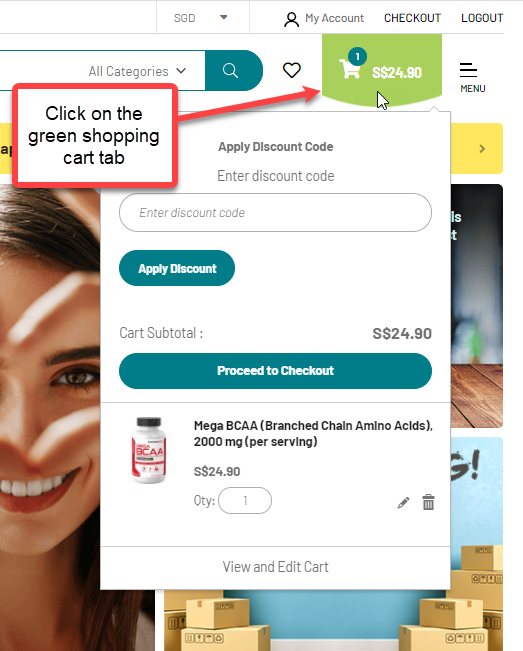 How to apply coupon code