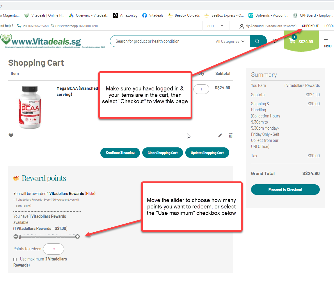 How to use Vitadollars reward points for Swanson Health Supplements