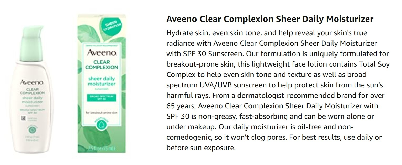 Aveeno sunscreen broad spectrum singapore spf30